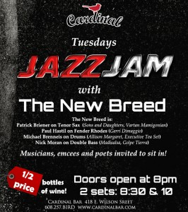 New Breed Jazz Jam at the Cardinal Bar